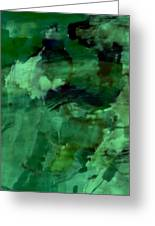 Pond Life Abstract Greeting Card