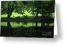 Pond Reflect Greeting Card