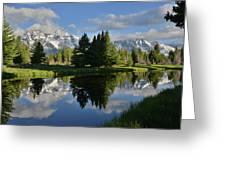 Pond Reflection At Schwabacher Landing Greeting Card