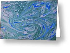 Pond Swirl 3 Greeting Card