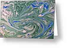 Pond Swirl 4 Greeting Card