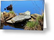 Pondside Stone Greeting Card