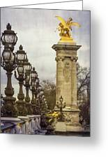 Pont Alexandre IIi Paris Greeting Card