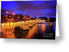 Pont Neuf At Night Greeting Card