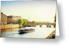 Pont Neuf In Sunset Light Greeting Card