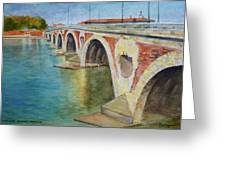 Pont Neuf Sur La Garonne At Toulouse Greeting Card