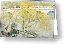 Pont Royal Paris Greeting Card by Childe Hassam