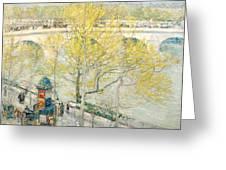 Pont Royal Paris Greeting Card