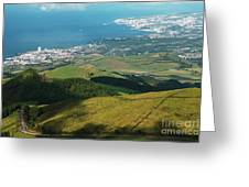 Ponta Delgada And Lagoa Greeting Card