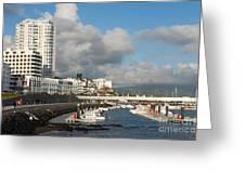 Ponta Delgada Waterfront Greeting Card