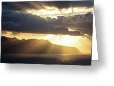 Ponta Do Rosto Greeting Card