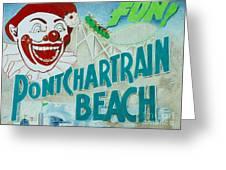 Pontchartrain Beach Greeting Card