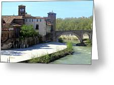 Ponte Cestio Greeting Card
