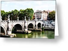 Ponte Saint' Angelo, Rome Greeting Card