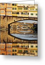 Ponte Vecchio Crossing The River A Greeting Card
