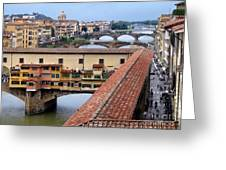 Ponte Vecchio From Uffizi                Greeting Card