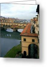 Ponte Vecchio Greeting Card by Warren Home Decor