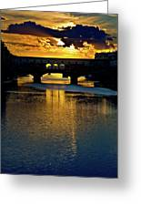 Ponte Vecchio Sunset  Greeting Card