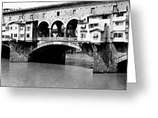 Ponte Vicchio Bridge In Florence Italy - C 1905 Greeting Card