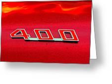 Pontiac Firebird 296 Greeting Card