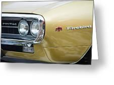 Pontiac Firebird Gold 1967 Greeting Card