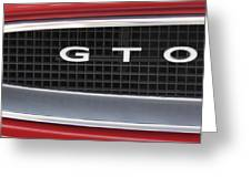 Pontiac Gto  Greeting Card
