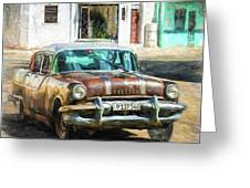 Pontiac Havana Greeting Card by Lou Novick