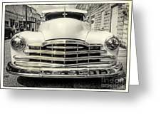 Pontiac Torpedo In Black And White Greeting Card
