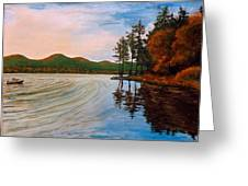 Pontoosuc Lake Pittsfield Ma Greeting Card
