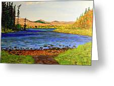 Pontoosuc Lake Pittsfield Massachusetts Greeting Card