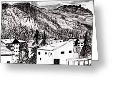 Pontresina Black And White Greeting Card