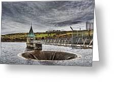 Pontsticill Reservoir Valve Tower Greeting Card