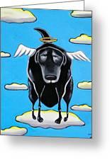 Poo Dog Goes To Heaven Greeting Card