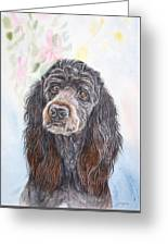 Poodle Mix  Greeting Card
