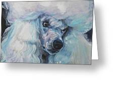 Poodle White Standard Greeting Card