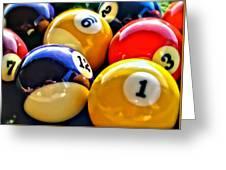 Pool Balls 2 Greeting Card
