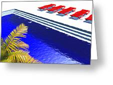 Pool Deck Greeting Card