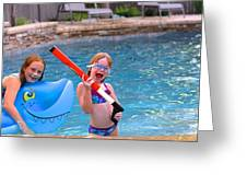 Pool Party Invite Greeting Card