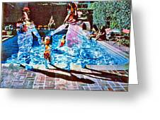 Pool Party Sold Greeting Card