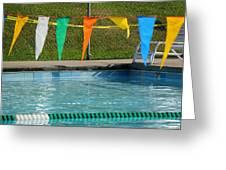 Pool Side  Greeting Card