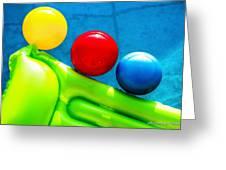 Pool Toys Greeting Card