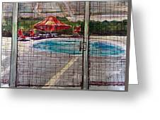 Pool View Greeting Card