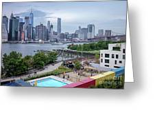 Pool With A View, Brooklyn, New York #130706 Greeting Card