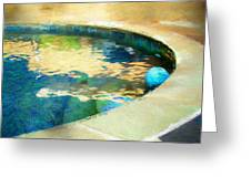 Pool With Blue Ball Greeting Card