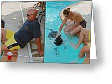 Poolside - Gently Cross Your Eyes And Focus On The Middle Image Greeting Card