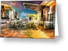 Poolside Bar Greeting Card