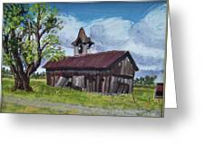 Poor Old Barn Greeting Card