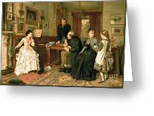 Poor Relations Greeting Card by George Goodwin Kilburne
