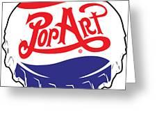 Pop Art Bottle Cap Greeting Card