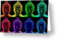Pop Art Buddha  Greeting Card by Fabrizio Troiani